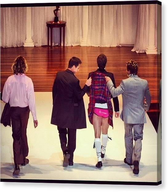 Groom Canvas Print - Under Your Kilt #kilt #suits #wedding by Avril O
