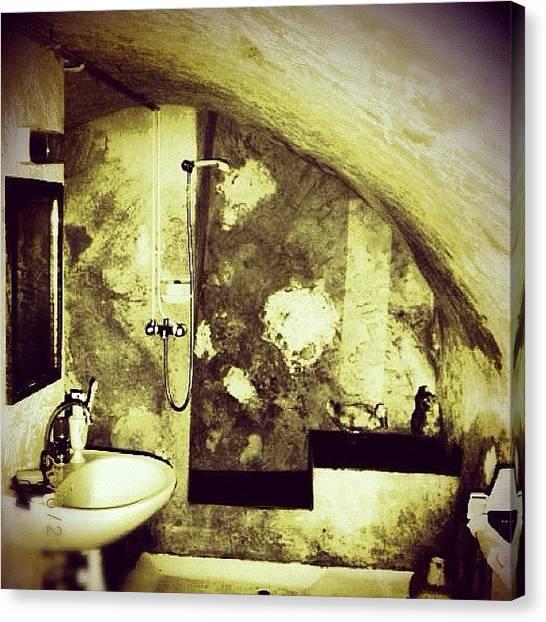 London Tube Canvas Print - Underground Bathroom #bathroom #sink by CactusPete AZ
