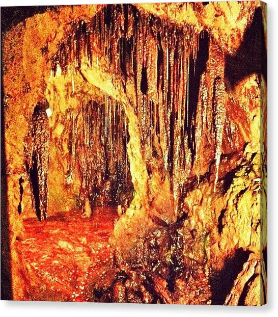 Stalagmites Canvas Print - #underground #copper #mine #wales #cave by Emma  Maudsley