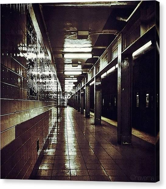 Subway Canvas Print - Underground Gotham by Natasha Marco