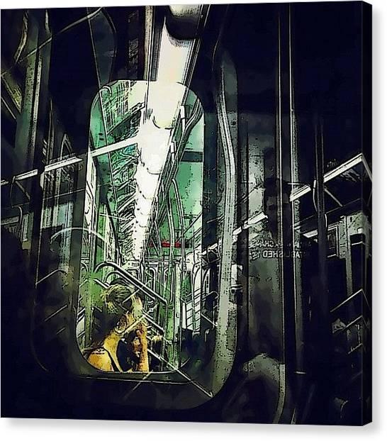 Subway Canvas Print - Underground Reflections by Natasha Marco