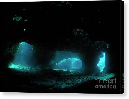Underwater Caves Canvas Print - Underwater Caves by Sami Sarkis