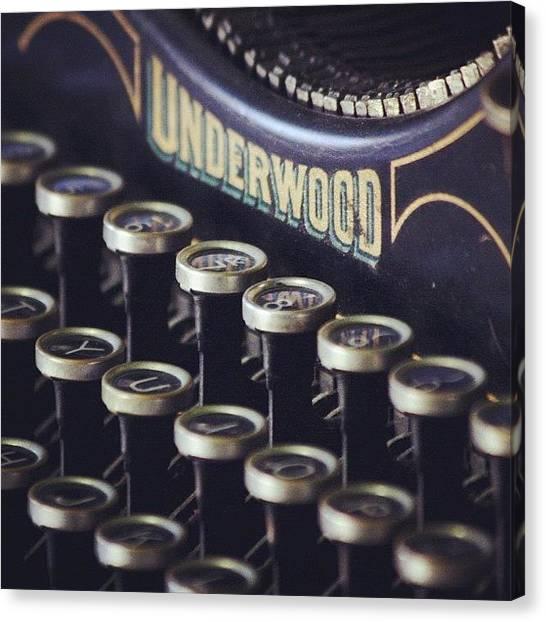 Typewriter Canvas Print - Underwood by Kim Szyszkiewicz