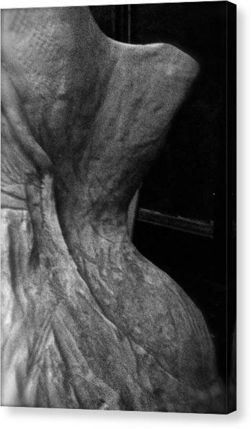 Undressed In Black And White Canvas Print