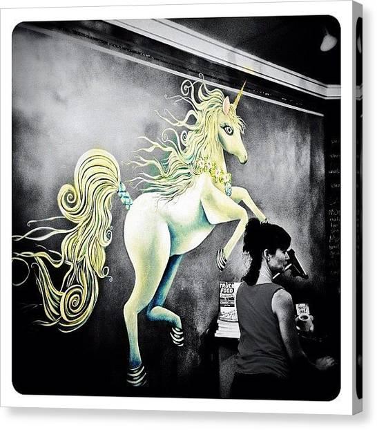 Unicorns Canvas Print - Unicorn by Natasha Marco