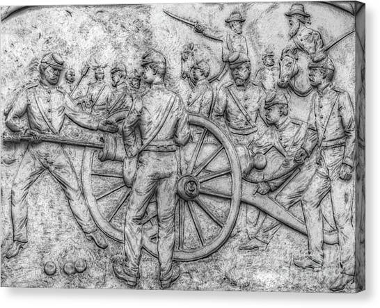 Army Of The Potomac Canvas Print - Union Artillery Civil War Drawing by Randy Steele