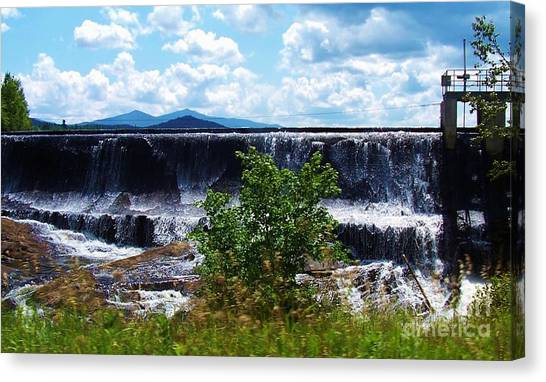 Union Falls  Canvas Print by Peggy Miller