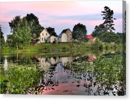 Union River Sunset  Canvas Print