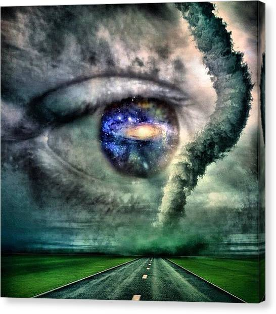 Tornadoes Canvas Print - #universal #eye by Universal Traveller