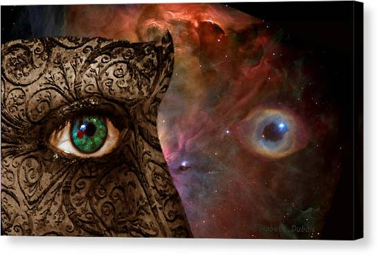 Universal Eyes Canvas Print