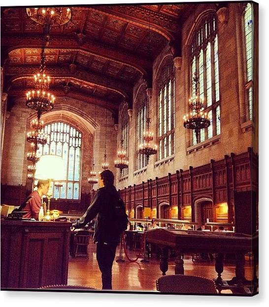 Victorian Canvas Print - University Of Michigan Law Reading Room by Nish K.