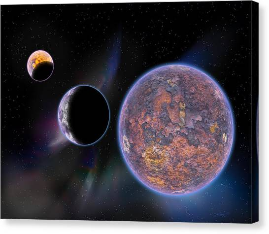 Unknown Worlds Canvas Print by Barry Jones