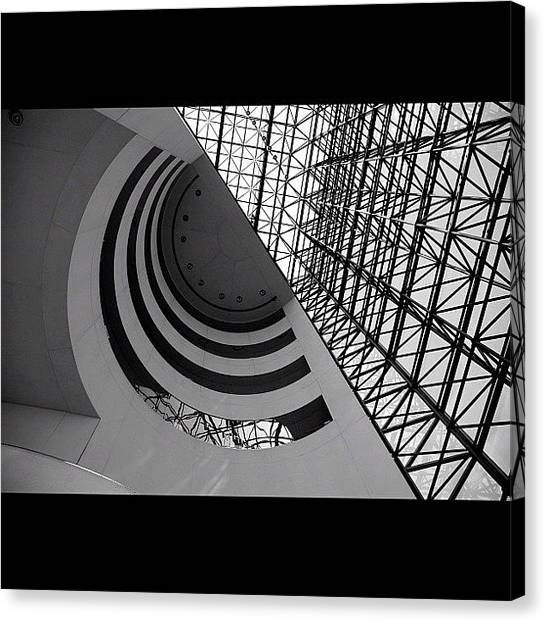 Libraries Canvas Print - Unprocessed Source Shot: The Jfk by Christopher Hughes