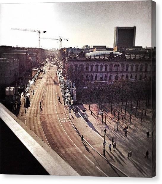 Berlin Canvas Print - Unter Den Linden Berlin by Cornelia Woerster