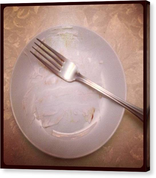 Meals Canvas Print - Untitled #11-dinnerplate by Lisa Nichols