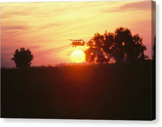 Up Before The Sun Canvas Print by Trent Mallett