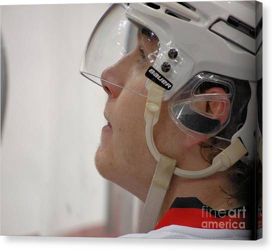 Patrick Kane Canvas Print - Up Close With #88 by Melissa Goodrich