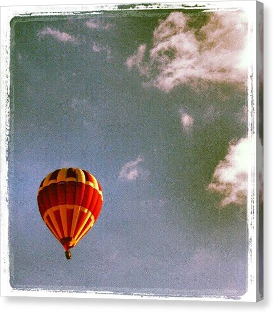 Balloons Canvas Print - Up, Up & Away! #hotairballoon #sky by Pete Carr