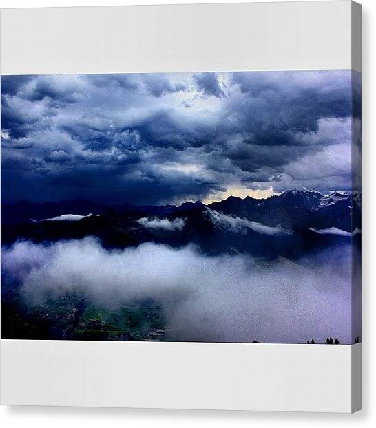 Swiss Canvas Print - Up With The Clouds by CloudPorn Central