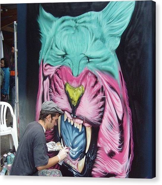 Tigers Canvas Print - #upfest 2011#graffitibristol by Nigel Brown