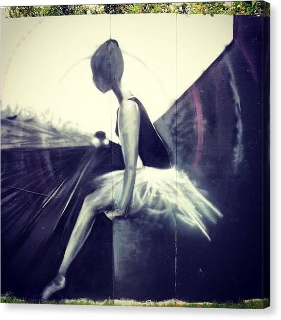 London Tube Canvas Print - #upfest #bedminster #street #art by Nigel Brown