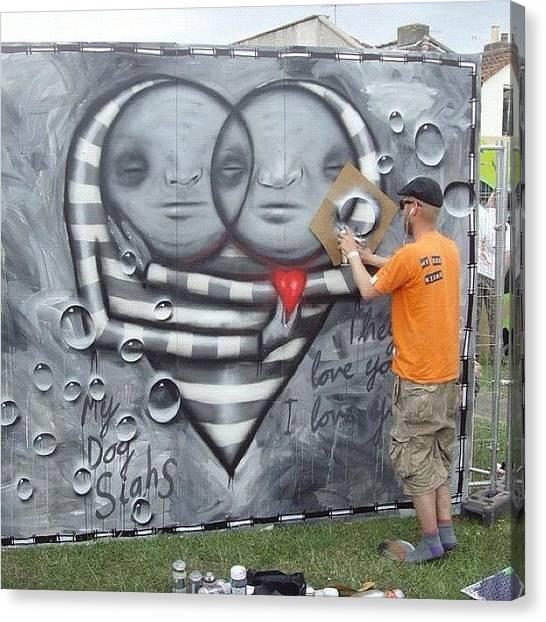 Graffiti Walls Canvas Print - #upfest #instagraf #colour #graff #graf by Nigel Brown