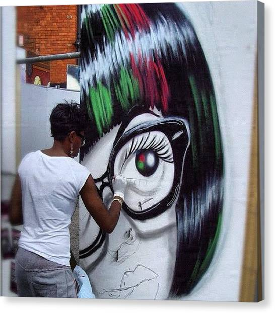 Graffiti Walls Canvas Print - #upfest #subwayart #streetphotography by Nigel Brown