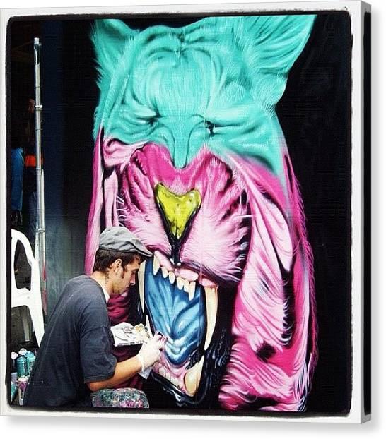 Lions Canvas Print - #upfest##bristolart #bristolgraffiti by Nigel Brown
