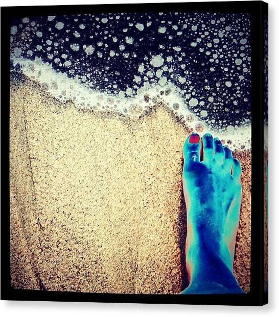 Feet Canvas Print - Upon These Shores by Natasha Marco