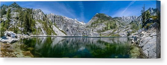Upper Canyon Creek Lake Panorama Canvas Print