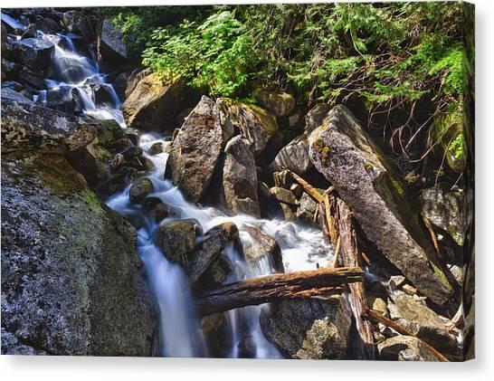 Upper Cascades Of Malchite Creek Canvas Print