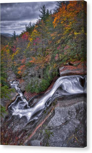 Canvas Print featuring the photograph Upper Creek Falls by Williams-Cairns Photography LLC