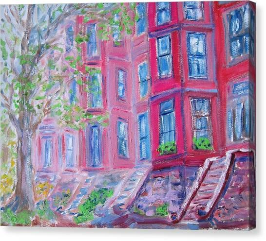 Upper West Side Brownstones Canvas Print