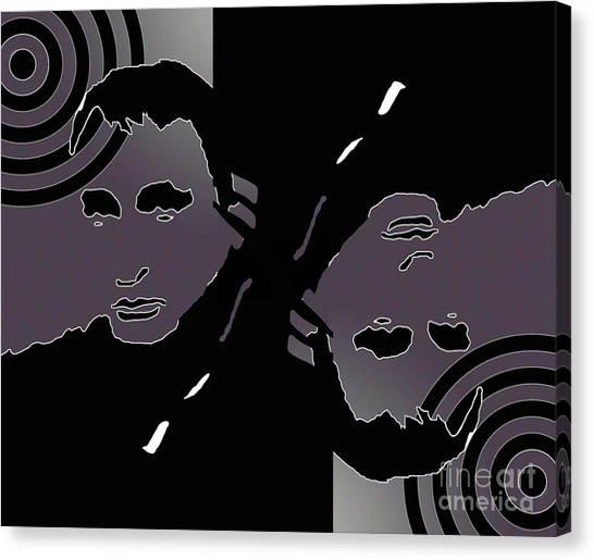 Leon Russell Canvas Print - Upside Down Artist L R Emerson II by L R Emerson II