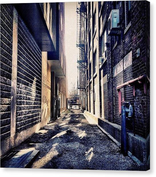 Iphoneonly Canvas Print - Urban Alley by Christopher Campbell