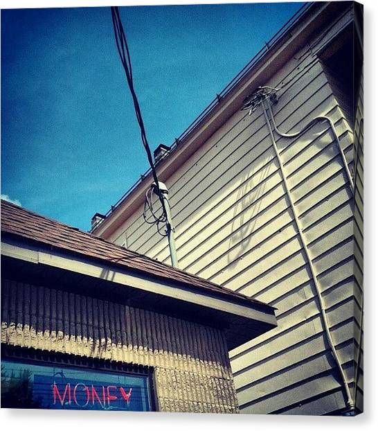 Money Canvas Print - Urban Angles #urban #city #architecture by Haley B.c.u.