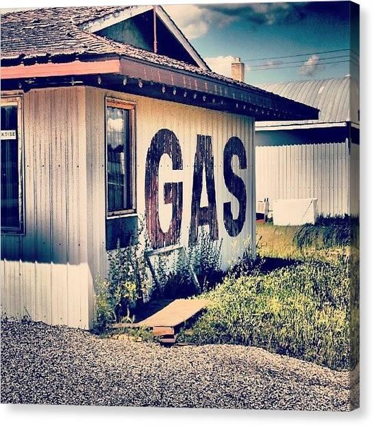 Saskatchewan Canvas Print - #urban #decay #gasstation #theodore by Michael Squier