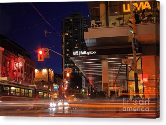 Urban Nightlife Canvas Print