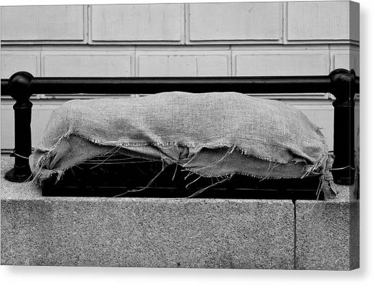 Urban Sarcophagus Canvas Print by Robert Ullmann