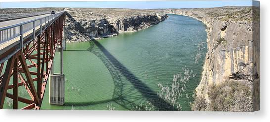Us 90 Bridge Over Pecos River Canvas Print
