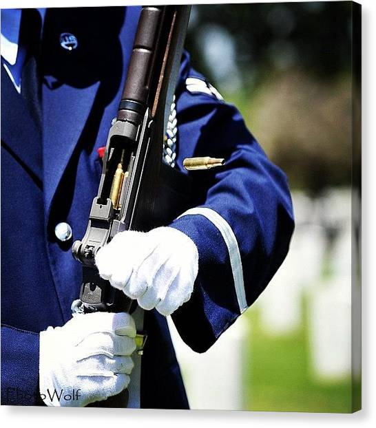 Wolves Canvas Print - Us Air Force Mile High Honor Guard - by Wolf Stumpf