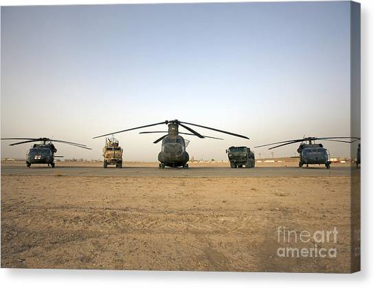 Medivac Canvas Print - U.s. Military Vehicles And Aircraft by Terry Moore