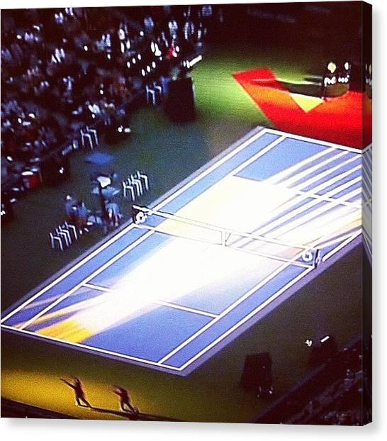 Tennis Canvas Print - #us #open #usopen #tennis #grand by Alex Mamutin