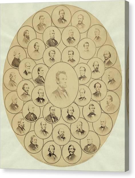 U.s. Senators Who Voted Aye On The 13th Canvas Print by Everett