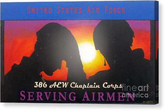 Usaf - Chaplain Corps Canvas Print by Unknown
