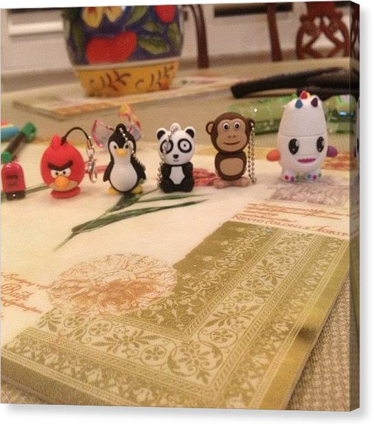 Penguins Canvas Print - #usbdrives #usb #sosohappy #angrybirds by Emilyyyy Martinez