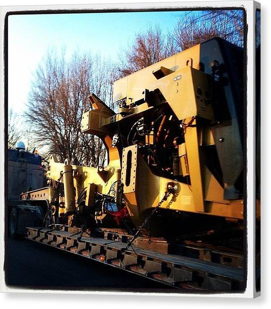 Machinery Canvas Print - Usually I Can Guess What A #machine by Rob Murray