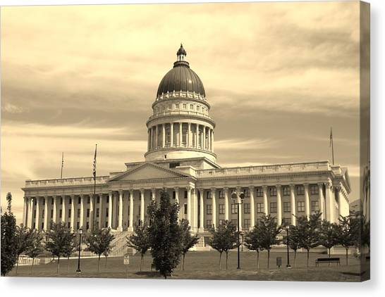Utah State Capital Canvas Print