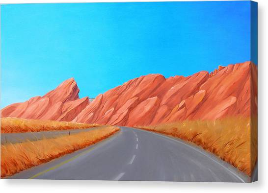 Utah Westbound Canvas Print
