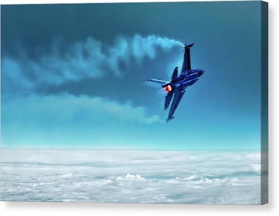 F16 Canvas Print - V I P E R  by Chris Lord